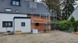 Anbau eines Wohnhauses